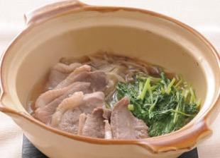 京壬生菜の鴨鍋