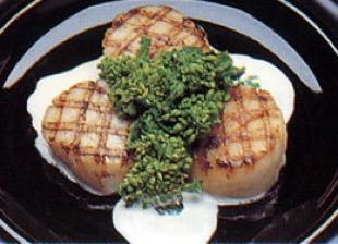 花菜の貝柱とのサラダ
