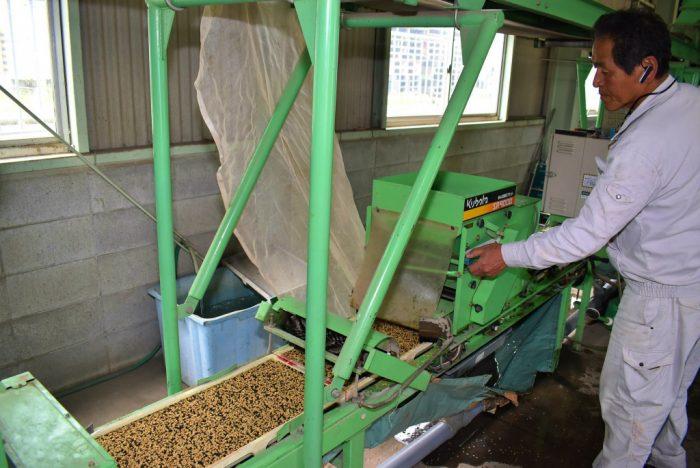 水稲播種作業が始まる