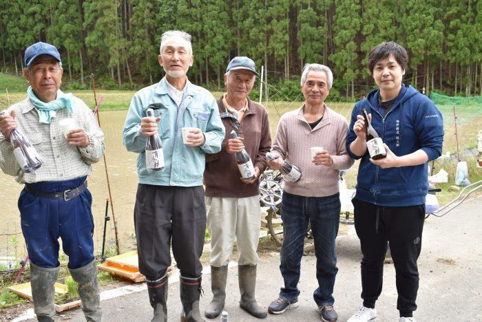 地元産使用・酒造好適米「祝」の日本酒が完成